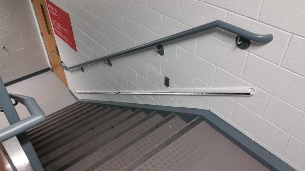 Looking Down Stairwell