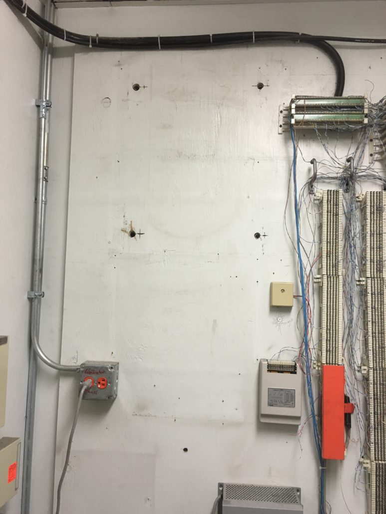 Wall with Wires Across