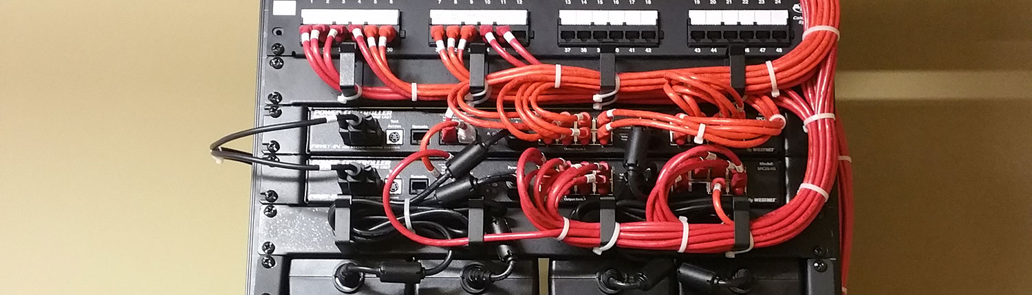 Exposed Organized Red Wires